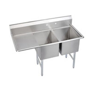 "Elkay 14-2C24X24-L-24X 76.5"" 2-Compartment Sink w/ 24""L x 24""W Bowl, 14"" Deep"