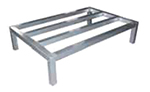 Elkay ADR602408-MX Dunnage Rack w/ 1500-lb Capacity, 8x60x24-in, Tubular Aluminum