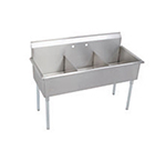 Elkay B3C24X24X Budget Sink w/ (3) 24x24x12-in Bowl & 9-in Splash