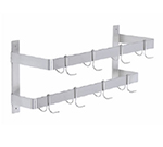 Elkay DLW-48X 48-in Double Line Wall Mount Pot Rack w/ 1-Hook/ft