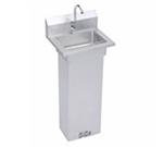 "Elkay EHS-18-PEDX Pedestal Commercial Hand Sink w/ 14""L x 10""W x 5""D Bowl, Basket Strainer"
