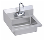 Elkay EHS-18-S-LX Wall Economy Hand Sink w/ 14x10x5-in Bowl & Faucet, Left Splash