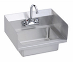 "Elkay EHS-18-SSX Wall Mount Commercial Hand Sink w/ 14""L x 10""W x 5""D Bowl, Side Splashes"