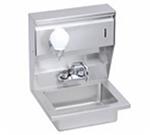"Elkay EHS-18-STDX Wall Mount Commercial Hand Sink w/ 14""L x 10""W x 5""D Bowl, Basket Drain"