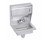Elkay EHS-18-TDX Wall Economy Hand Sink w/ 14x10x5-in Bowl & Swing Spout Faucet, Soap/Towel Dispenser