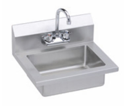 Elkay EHS-18X Wall Economy Hand Sink w/ 14x10x5-in Bowl & Gooseneck Faucet