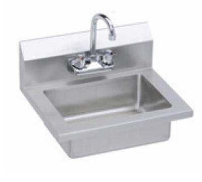 "Elkay EHS-18X Wall Mount Commercial Hand Sink w/ 14""L x 10""W x 5""D Bowl, Basket Drain"