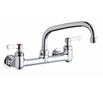 Elkay LK940AT08L2H 8-in Wall Centerset Faucet w/ 10-in Arched Swing Spout & Lever Handles