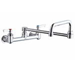 Elkay LK940DS20L2H 8-in OC Wall Faucet w/ 19.5-in Double Joint Swing Spout & Lever Handles