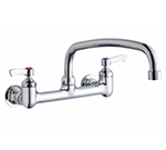 Elkay LK940TS08L2H 8-in OC Wall Faucet w/ 10-in Arched Swing Spout & Lever Handles