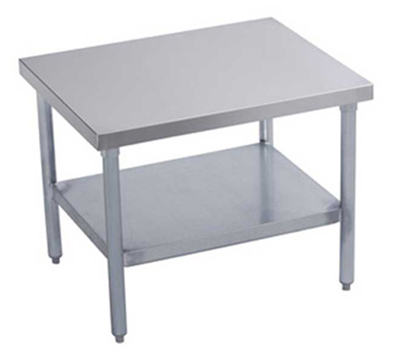 "Elkay MS24S24-STSX 24"" Mixer Table w/ All Stainless Undershelf Base & Marine Edge, 24""D"