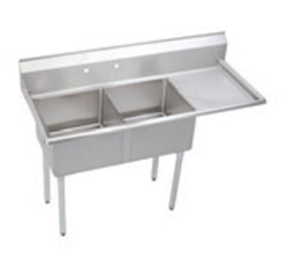 "Elkay S2C18X18-R-18X 56.5"" 2-Compartment Sink w/ 18""L x 18""W Bowl, 14"" Deep"