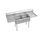 Elkay SE2C18X18-2-18X Sink w/ 24x24x11-in Bowl & 9-in Splash, 18-in L-R Drainboard
