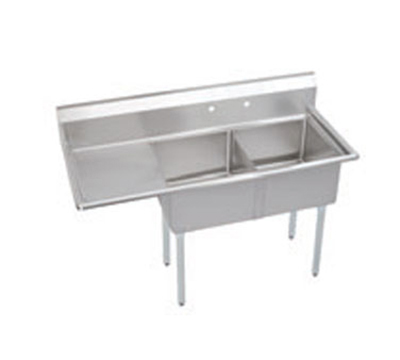 "Elkay SE2C18X18-L-18X 56.5"" 2-Compartment Sink w/ 18""L x 18""W Bowl, 11"" Deep"