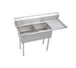 "Elkay SE2C18X18-R-18X 56.5"" 2-Compartment Sink w/ 18""L x 18""W Bowl, 11"" Deep"