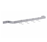 Elkay SLW-72X 72-in Wall Mount Pot Rack w/ 1-Hook/ft, Stainless