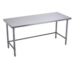 Elkay WT24X120-STGX Flat Top Work Table w/ Galvanized Cross Bracing, Stainless Top, 120x24""