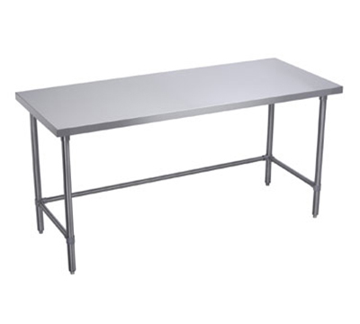 Elkay WT30X96-STGX Flat Top Work Table w/ Galvanized Cross Bracing, Stainless Top, 96x30-in
