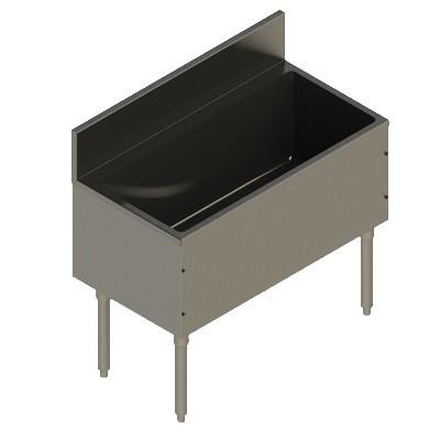 "Elkay UB-IB36X19X Freestanding Underbar Ice Bin - 36"" x 19"" x 13"", Stainless Steel"