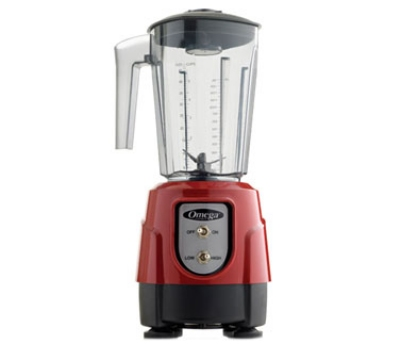 Omega BL330R Countertop Food Blender w/ Polycarbonate Container