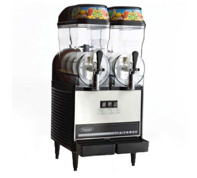 Omega OFS20 Granita Slush Machine w/ (2) 3-Gallon Bowls, 710 Watts, Stainless