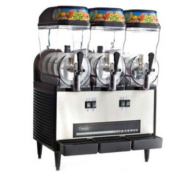 Omega OFS30 Granita Slush Machine w/ (3) 3-Gallon Bowls, 980 Watts, Stainless