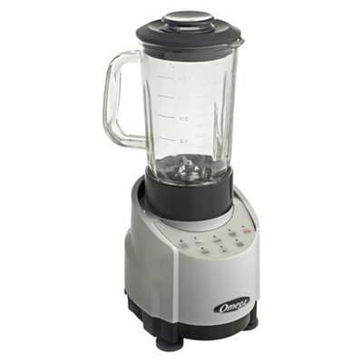 Omega SLK100GS Blender - 43 oz Glass Container, Silver, 1-hp