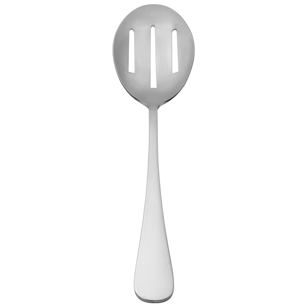 "World Tableware 002142 11.87"" Slotted Serving Spoon, 18/8-Stainless, Deluxe Windsor"