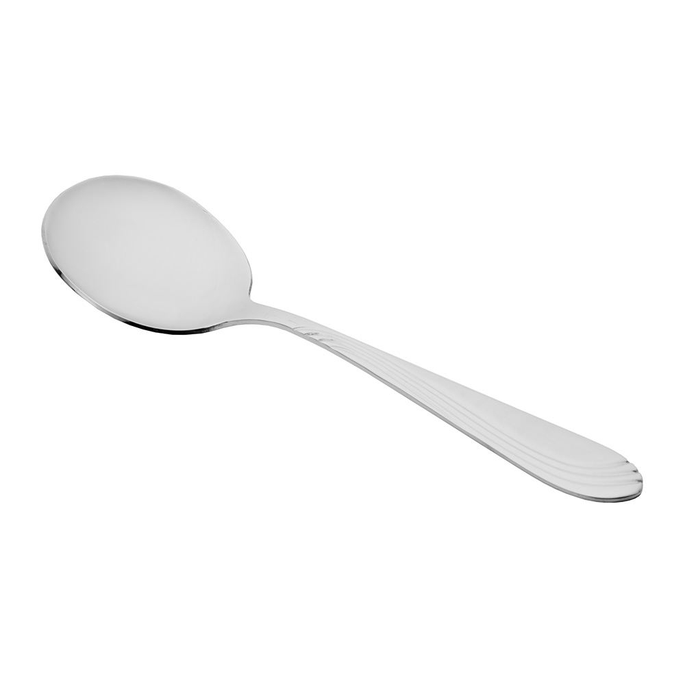 World Tableware 148016 Bouillon Spoon, 18/0-Stainless, Heavy Weight, Riva Brandware Collection