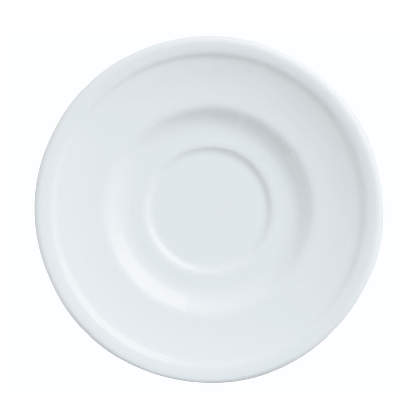 "World Tableware 150210155 6-1/8"" Empire Round Saucer - Porcelain, Bright White"