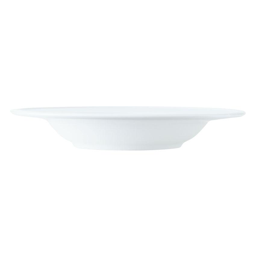 World Tableware 150210230 11-1/2-oz Empire Rimmed Soup Bowl - Porcelain, Bright White