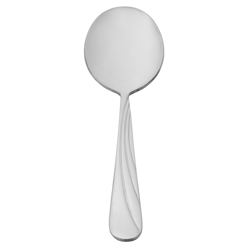 World Tableware 165016 Bouillon Spoon, 18/0-Stainless, Extra Heavy Weight, Cascade Brandware Collection