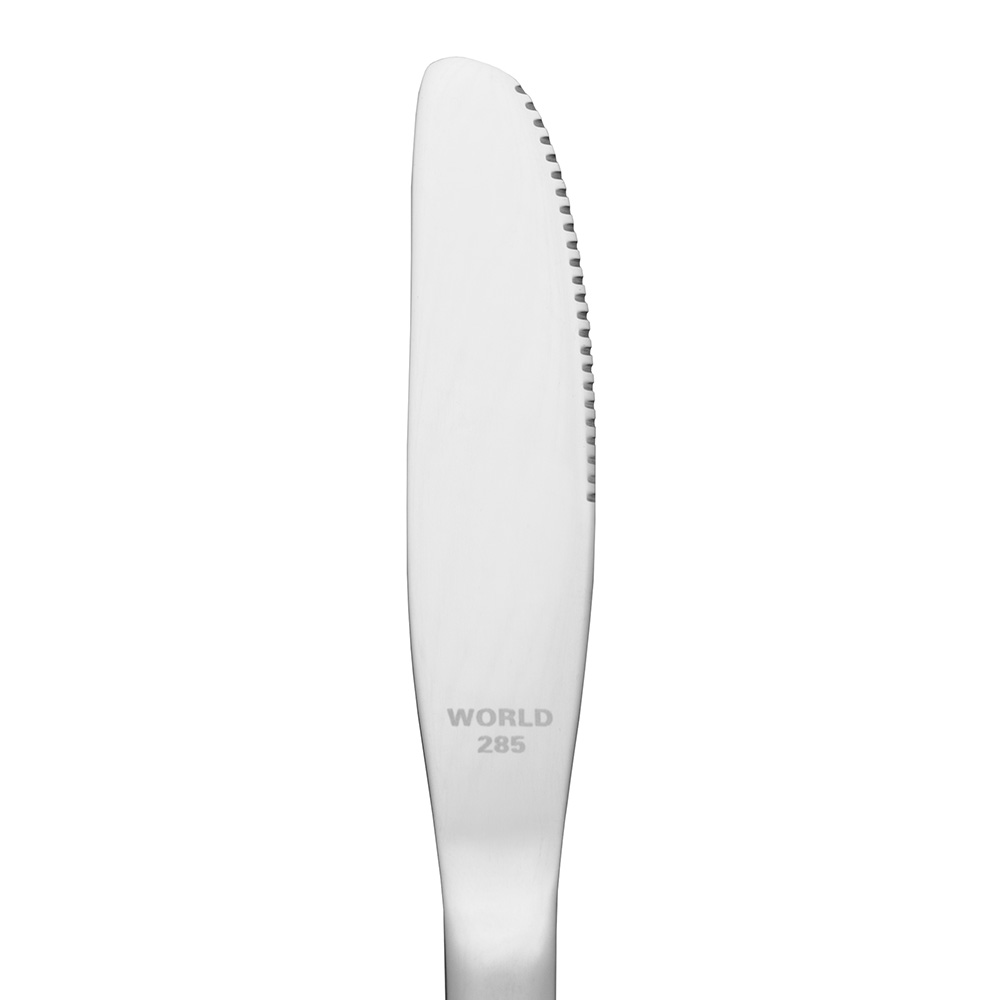 World Tableware 6605912 Entree Knife w/ Fluted Blade, 18/0-Stainless, Deluxe Windsor World Collection