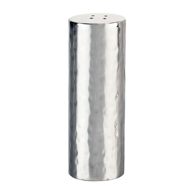 "World Tableware 6702 3.5"" Salt Shaker - Hammered Finish, Stainless"