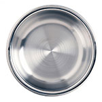 World Tableware 6708 90-oz Round Bowl w/ Bowed Sides, Stainless Steel