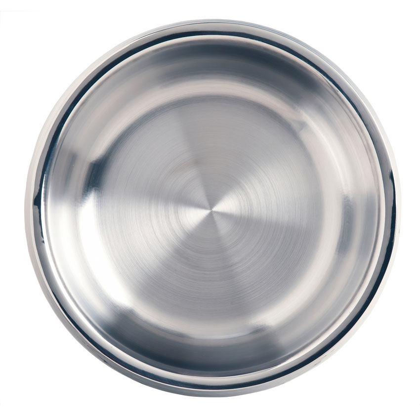 World Tableware 6709 150-oz Round Bowl w/ Bowed Sides, Stainless Steel