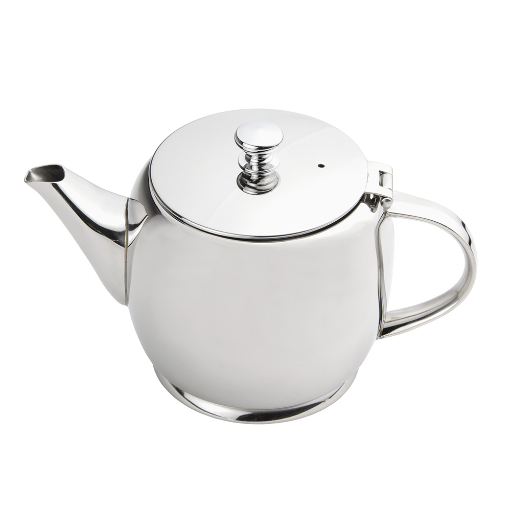 World Tableware 73059 20-oz Belle II Teapot - 18/8 Stainless