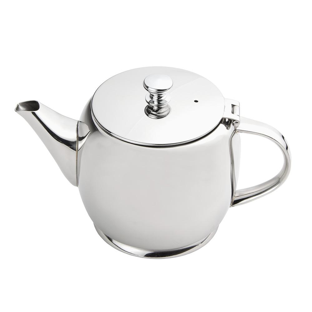 World Tableware 73059 20-oz Belle II Teapot - 18/8 Stainless