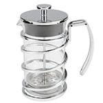 World Tableware 73590 17oz French Press - 2-cup, Stainless Steel Frame, Glass