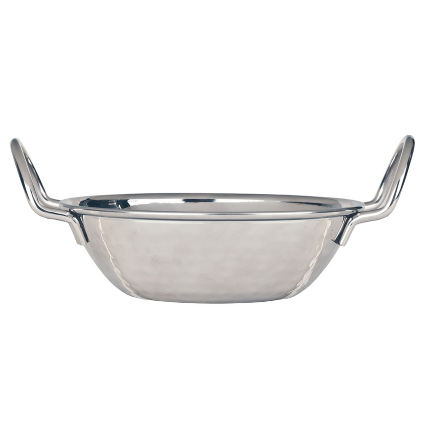 World Tableware 761702 16-oz Round Bowl w/ Handles, Stainless Steel