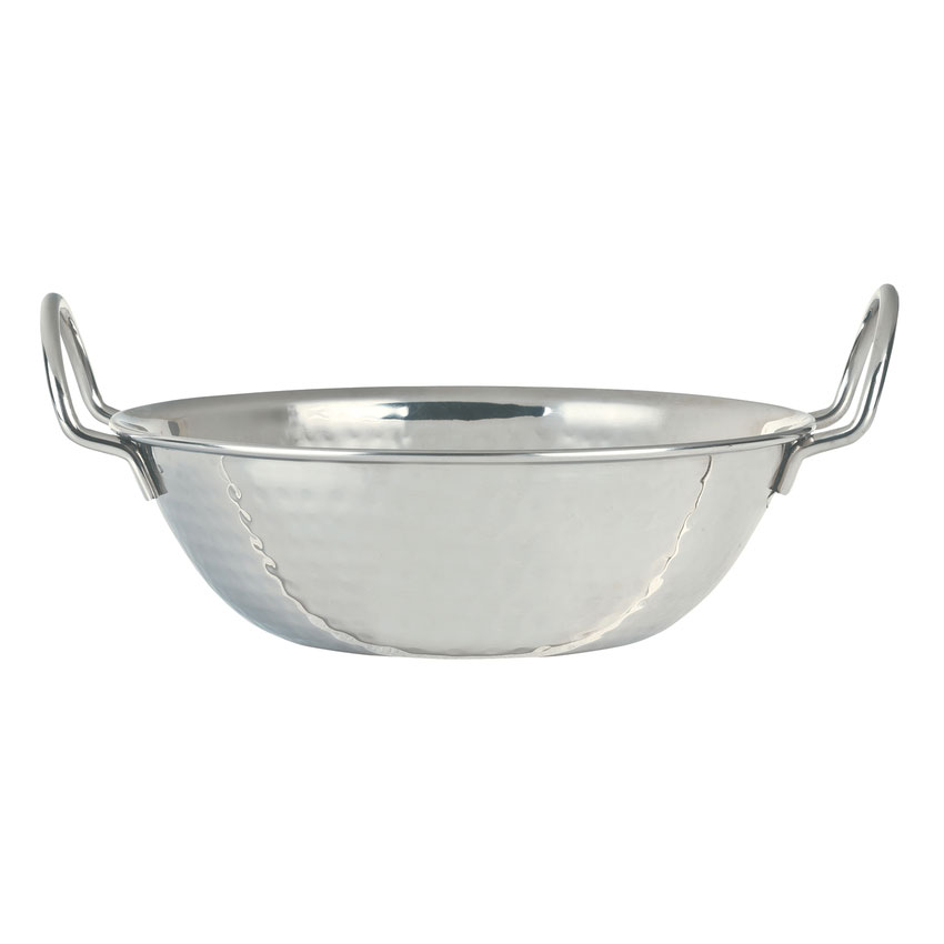 World Tableware 761704 32-oz Round Bowl w/ Handles, Stainless Steel