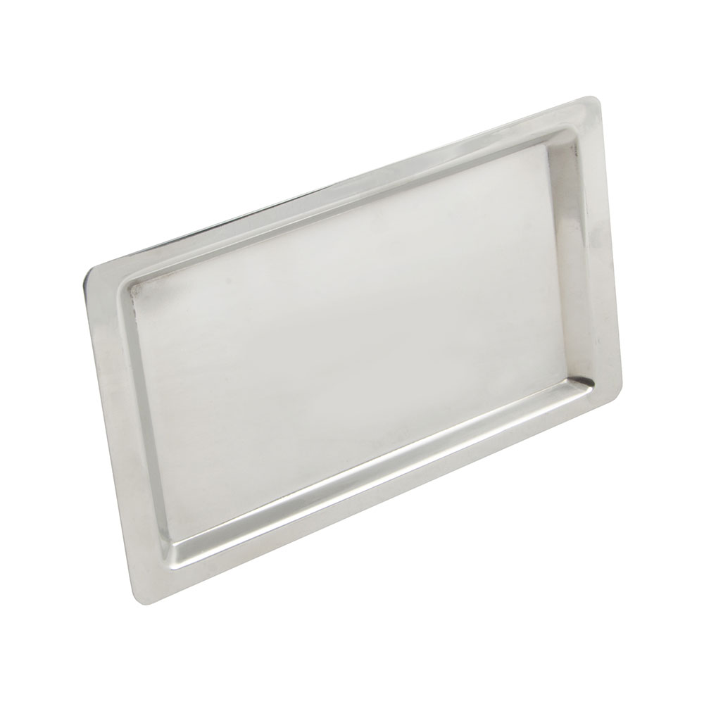 World Tableware 763802 Oblong Cash Tray, Stainless, 4.5x8.5""