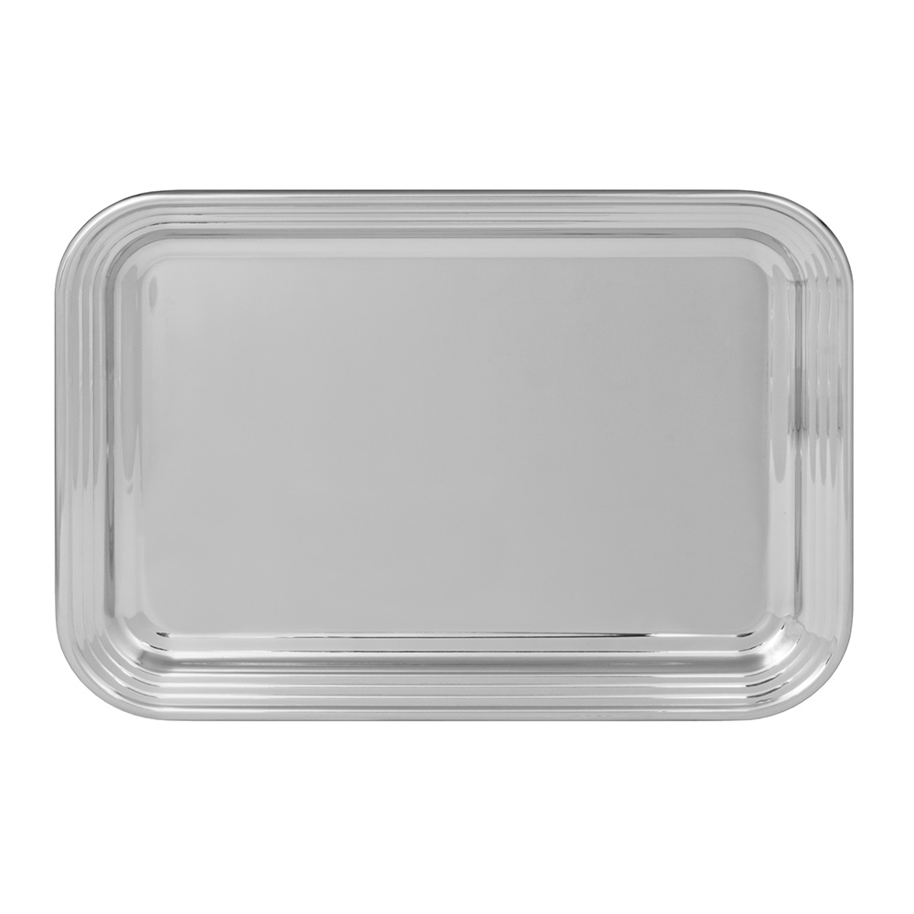 World Tableware 763906 Oblong Tray, 18/8-Stainless, 19.75x14.75""