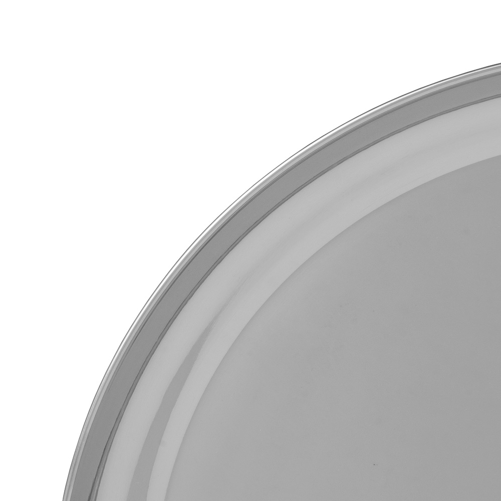 """World Tableware 764104 14"""" Round Tray w/ Rolled Edge, 18/8-Stainless"""