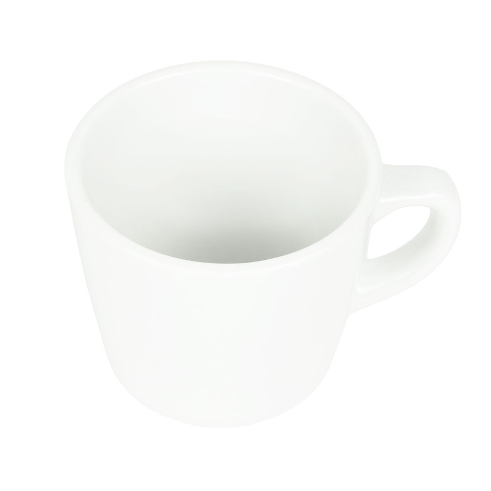 World Tableware 840-110-004 7-oz Tall Porcelain Cup w/ Rolled Edge, Bright White, Porcelana