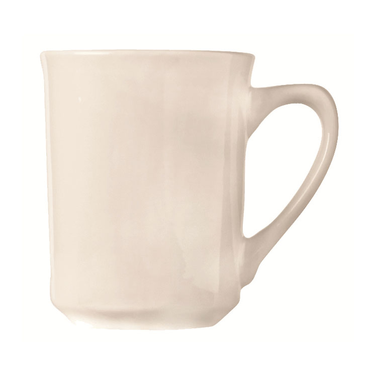 World Tableware 840-125-002 8.5-oz Porcelain Mug w/ Rolled Edge, Bright White, Porcelana