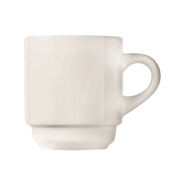 World Tableware 840-145-006 3.5-oz Espresso Cup - Tall, Rolled Edge, Porcelain, Bright White