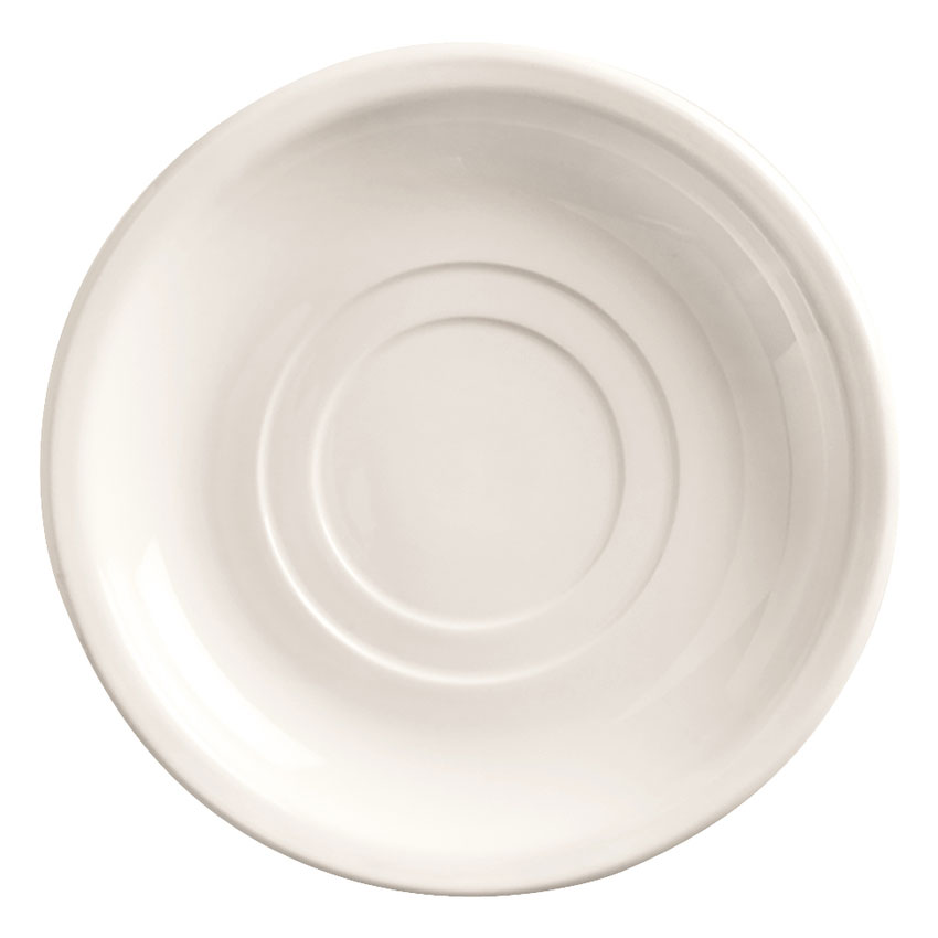 "World Tableware 840-205-006 6"" Porcelain Double Well Saucer, Bright White"
