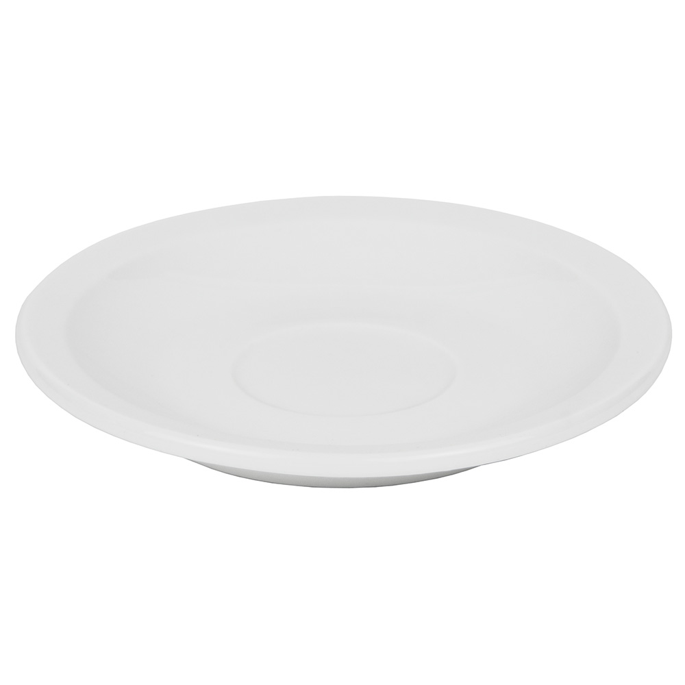 "World Tableware 840-245-107 4.75"" Demitasse Saucer - Narrow Rim, Porcelain, Bright White"