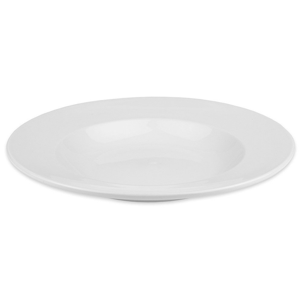 "World Tableware 840-370-200 12"" Porcelain Pasta Bowl w/ 20-oz Capacity & Rolled Edge, White, Porcelana"